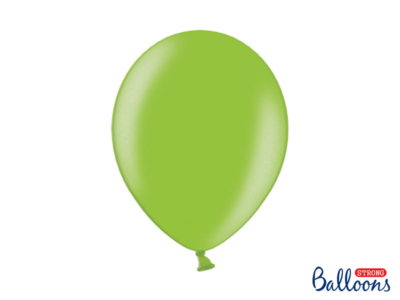 Metallic Bright Green Latex Balloons (30cm) - Pack Of 10