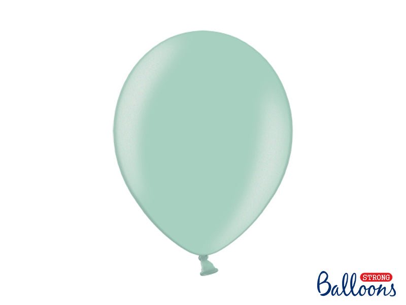Metallic Mint Green Latex Balloons (30cm) - Pack Of 100
