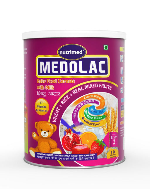 Medolac Mixed Fruits & Milk Baby Cereal