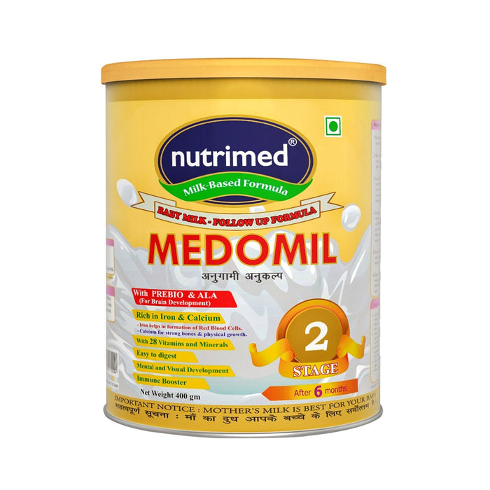 Medomil Stage 2 Infant Milk Formula (6-12 months) - 400gm - nutrimedmain
