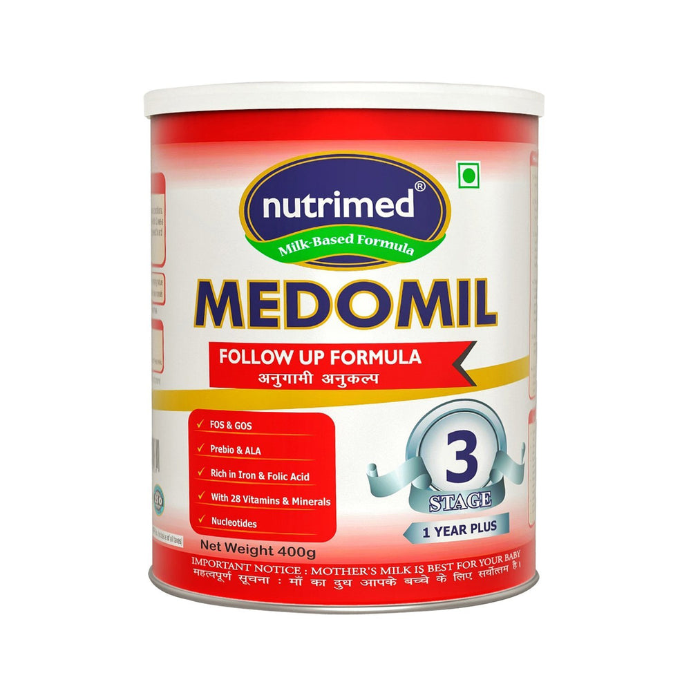 Medomil Stage 3 Follow Up Formula (1-3 Years) - 400gms - nutrimedmain