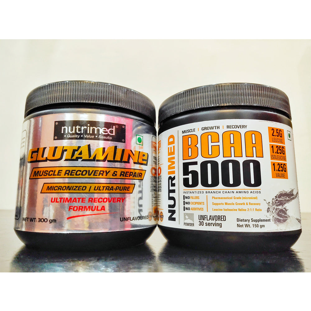 ULTIMATE RECOVERY Stack - BCAA + Glutamine - nutrimedmain