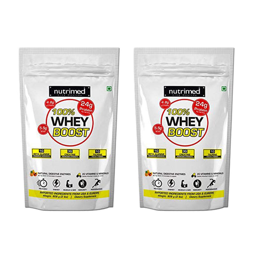 100% Whey Boost (with Enzymes/Beta Alanine/Taurine) - 2lbs+2lbs