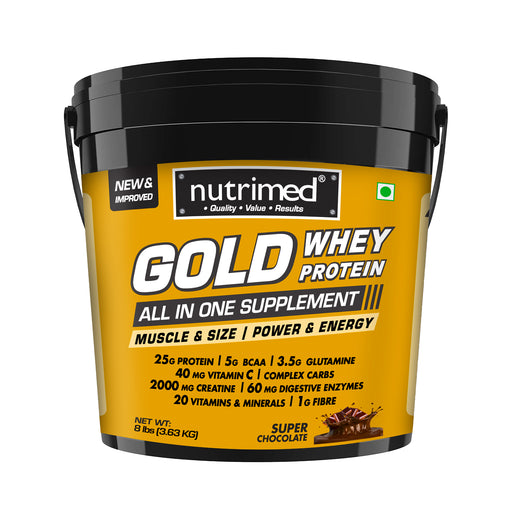 Gold Whey Protein - 8 lbs