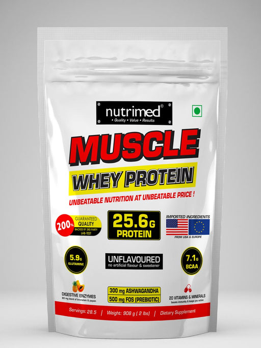 Muscle Whey Protein = 2 lbs - nutrimedmain