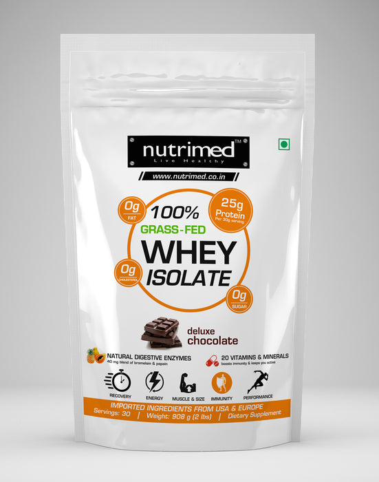 100% Grass-fed Whey Isolate (with Enzymes, Multivitamins) - nutrimedmain