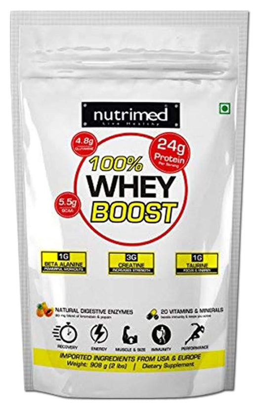 100% Whey Boost 2 lbs (with Enzymes/Beta Alanine/Taurine) - nutrimedmain