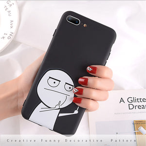 Finger iPhone Case Black