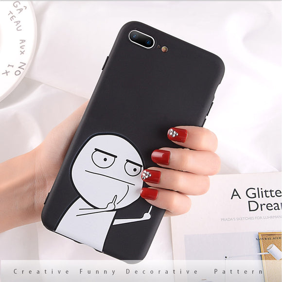 Finger iPhone Case Black - AntisocialCase