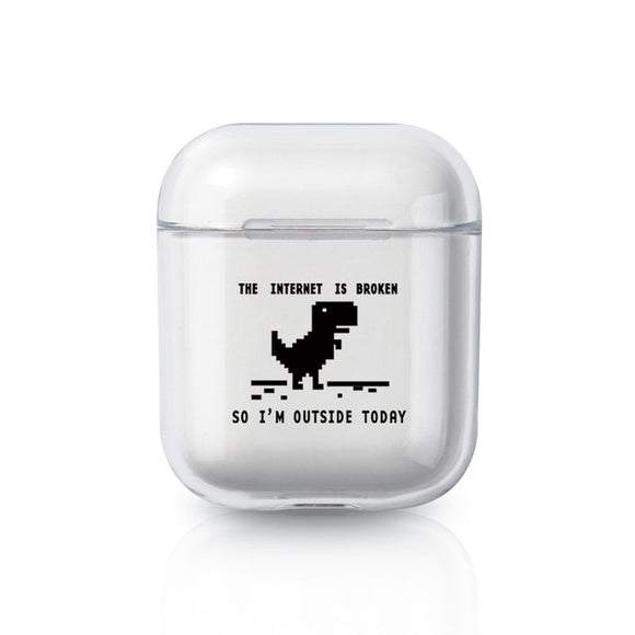 Internet Is Broken Dino AirPods Case