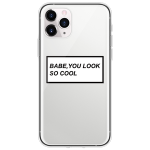 Babe You Look So Cool iPhone Case - AntisocialCase