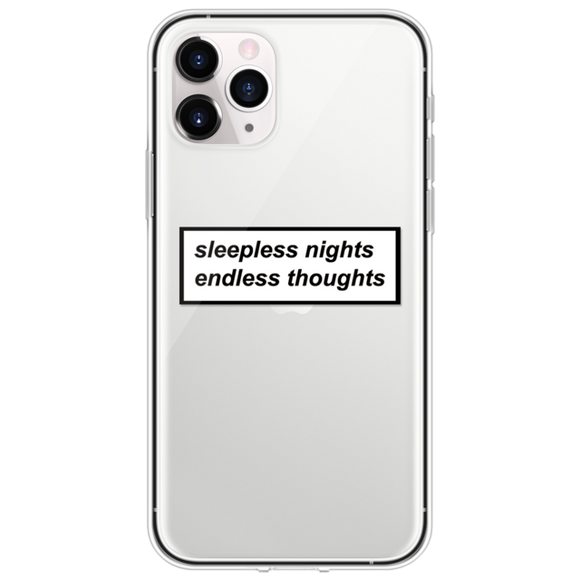 Sleepless Nights Endless Thoughts iPhone Case