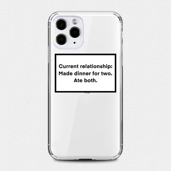 Current Relationship Status iPhone Case