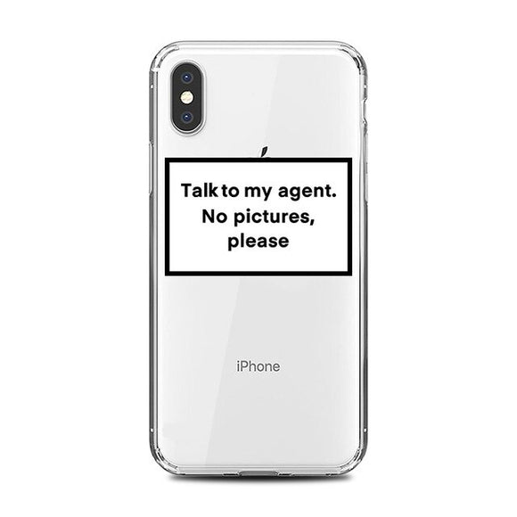 Talk To My Agent Clear iPhone Case - AntisocialCase