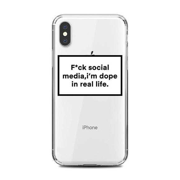 F*ck Social Media Clear iPhone Case