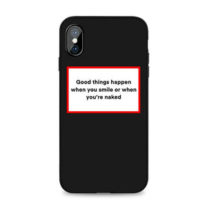 Good Things Happen Black iPhone Case