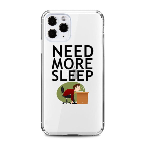 Need More Sleep Clear iPhone Case - AntisocialCase