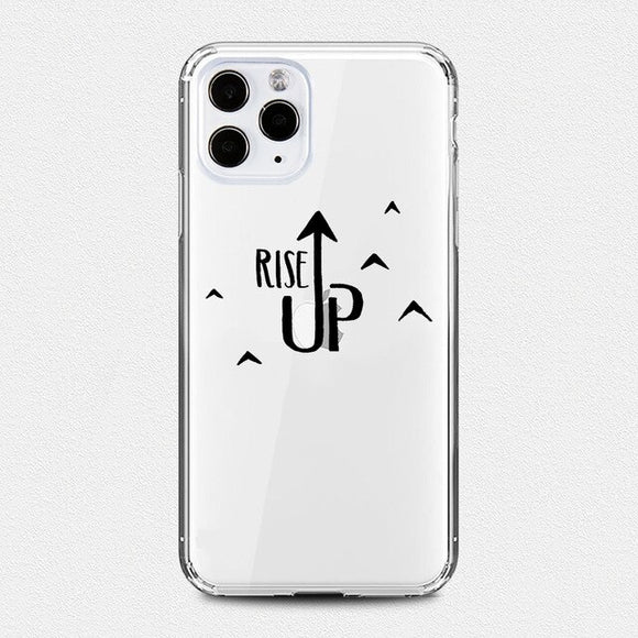 Rise Up Clear iPhone Case - AntisocialCase
