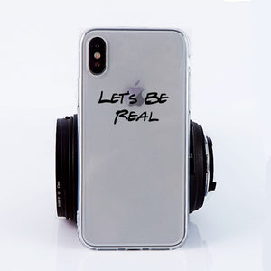 Let's Be Real Clear iPhone Case