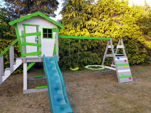 8ft HDPE garden plastic slide for kids with water hose connection for 1.2m platform height