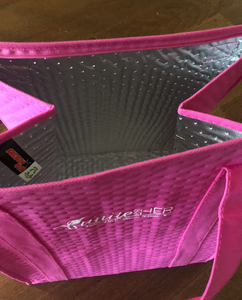 Pink Insulated Grocery Bag