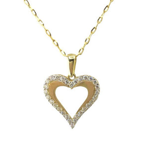 9ct. Gold Heart Pendant