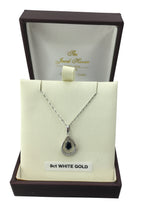 Load image into Gallery viewer, 9ct. White Gold Sapphire Pendant