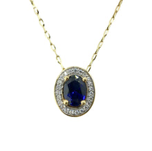 Load image into Gallery viewer, 9ct. Gold Sapphire Pendant