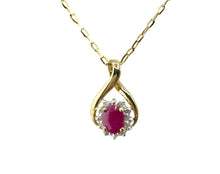 Load image into Gallery viewer, 9ct. Gold Ruby and Diamond Pendant