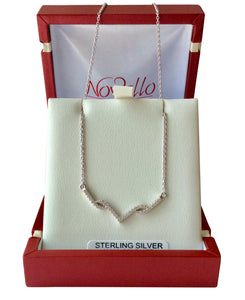 Sterling Silver V necklet