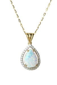 9ct. Gold Opal Pendant
