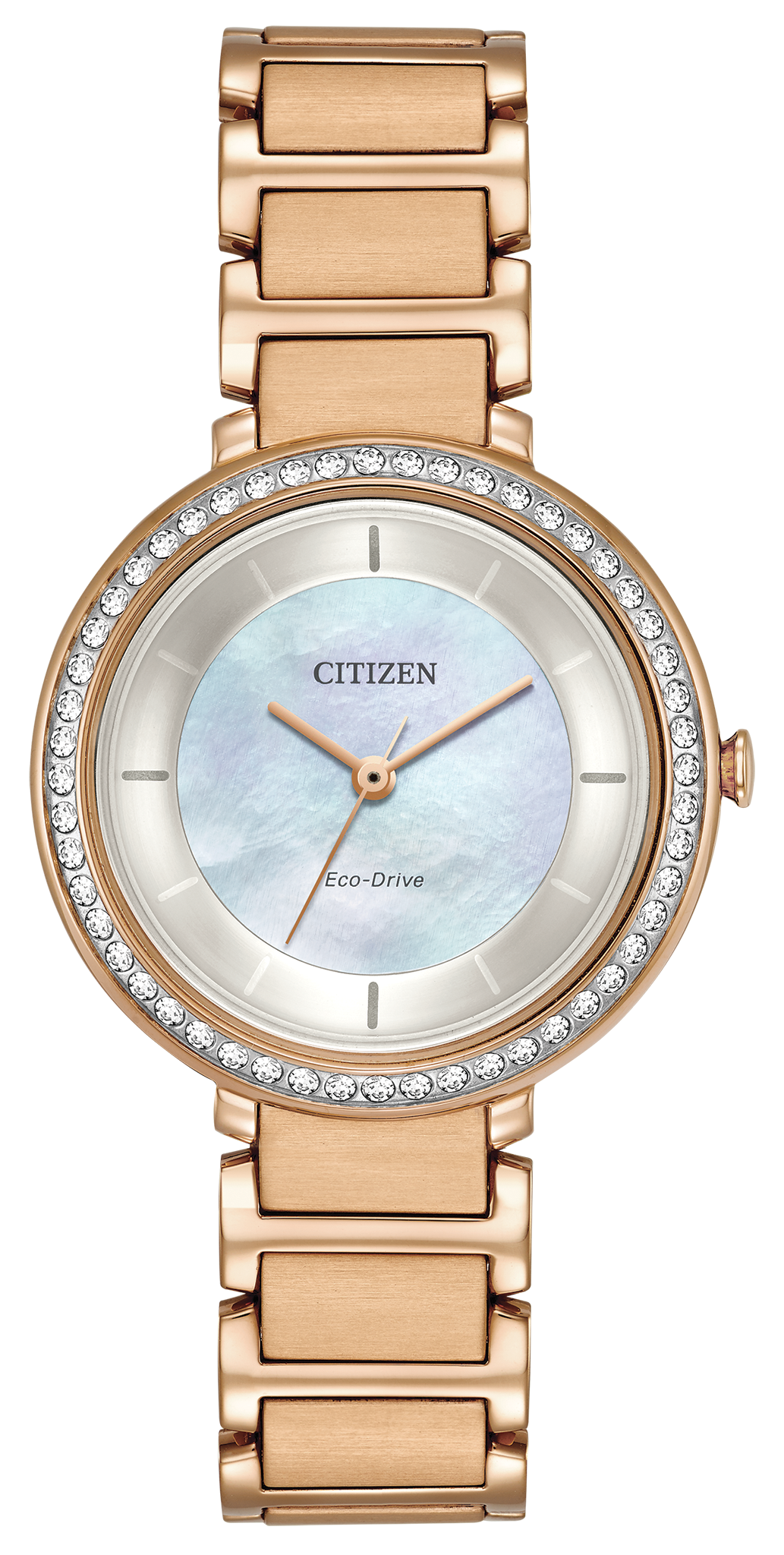 Citizen Silhouette Crystal Ladies Eco-Drive Rose Gold Watch