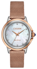 Load image into Gallery viewer, Citizen Ceci Diamond Ladies Rose Gold Tone Eco-Drive Watch