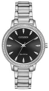 Citizen Silhouette Crystal Ladies Eco-Drive Stainless Steel Watch