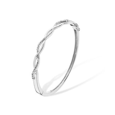 Sterling Silver Weave Bangle