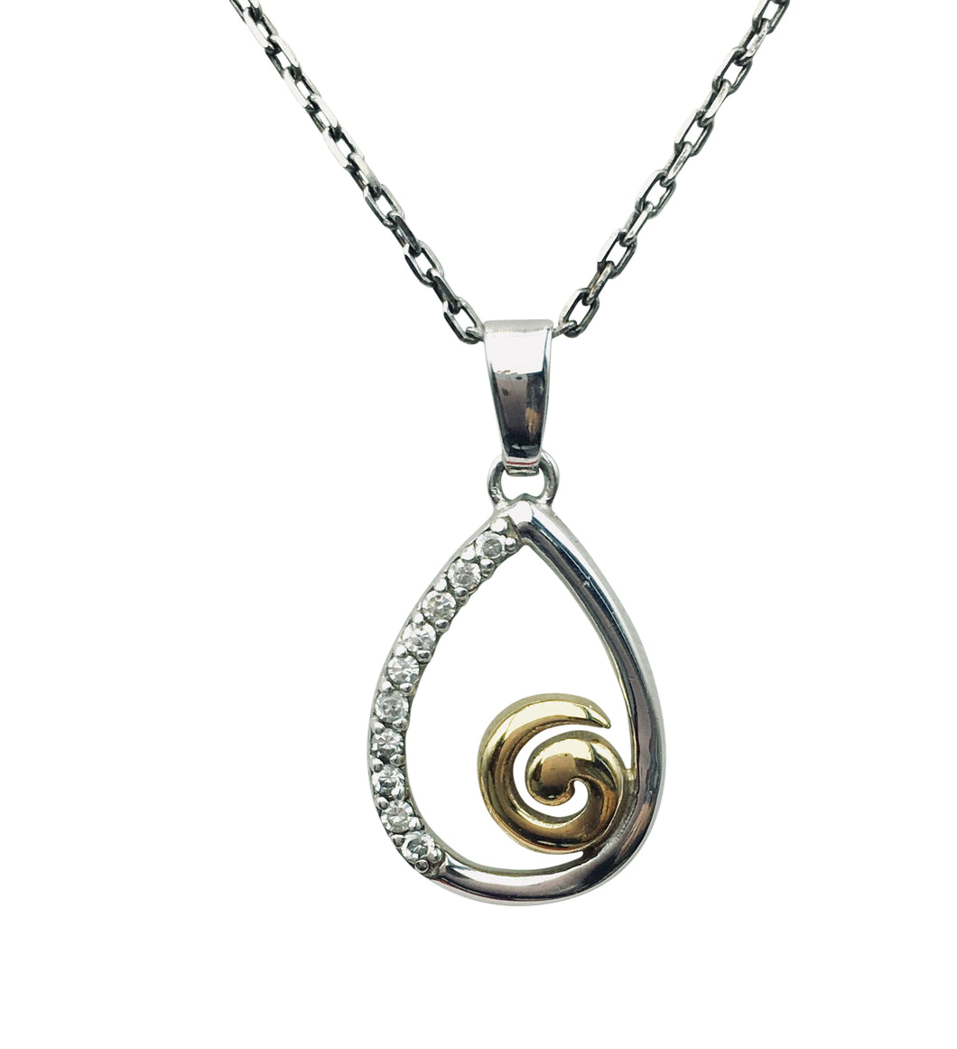 Sterling Silver two tone Pendant