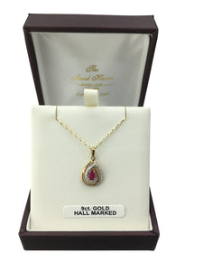 9ct. Gold Ruby Pendant