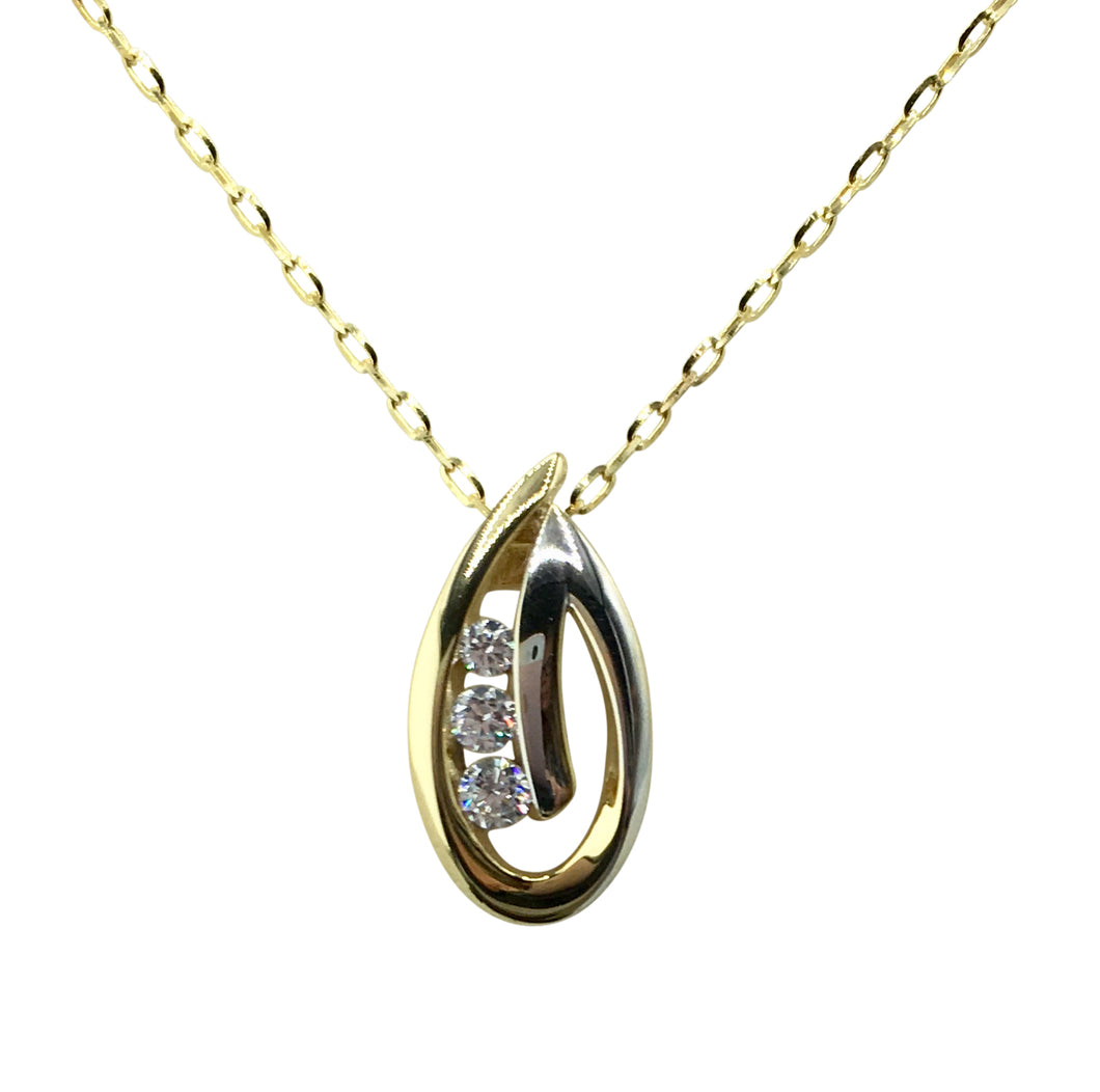 9ct. Gold Two Tone Pendant