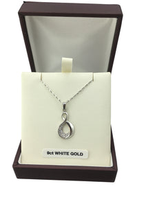 9ct. White Gold Pendant