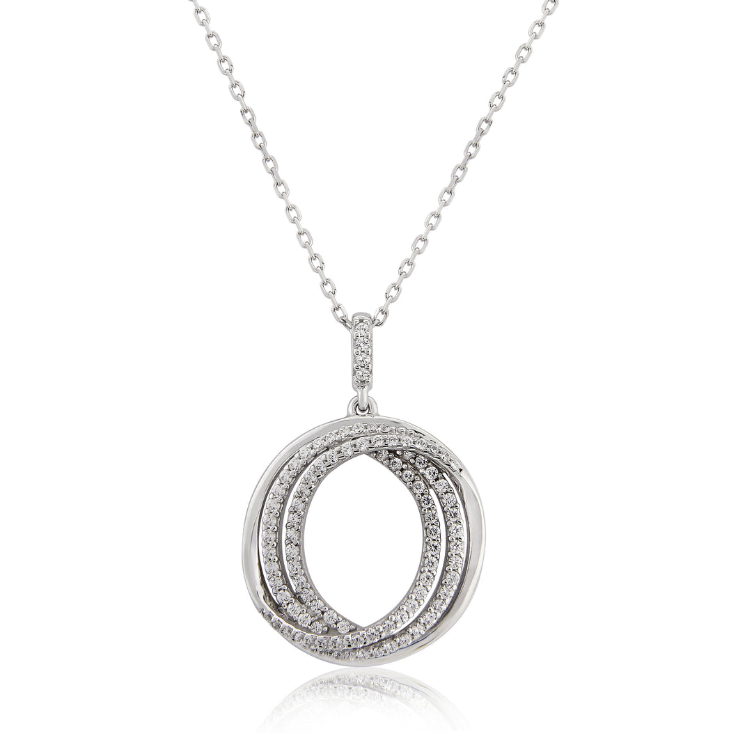 Waterford Jewellery Tripple Circle Pandant