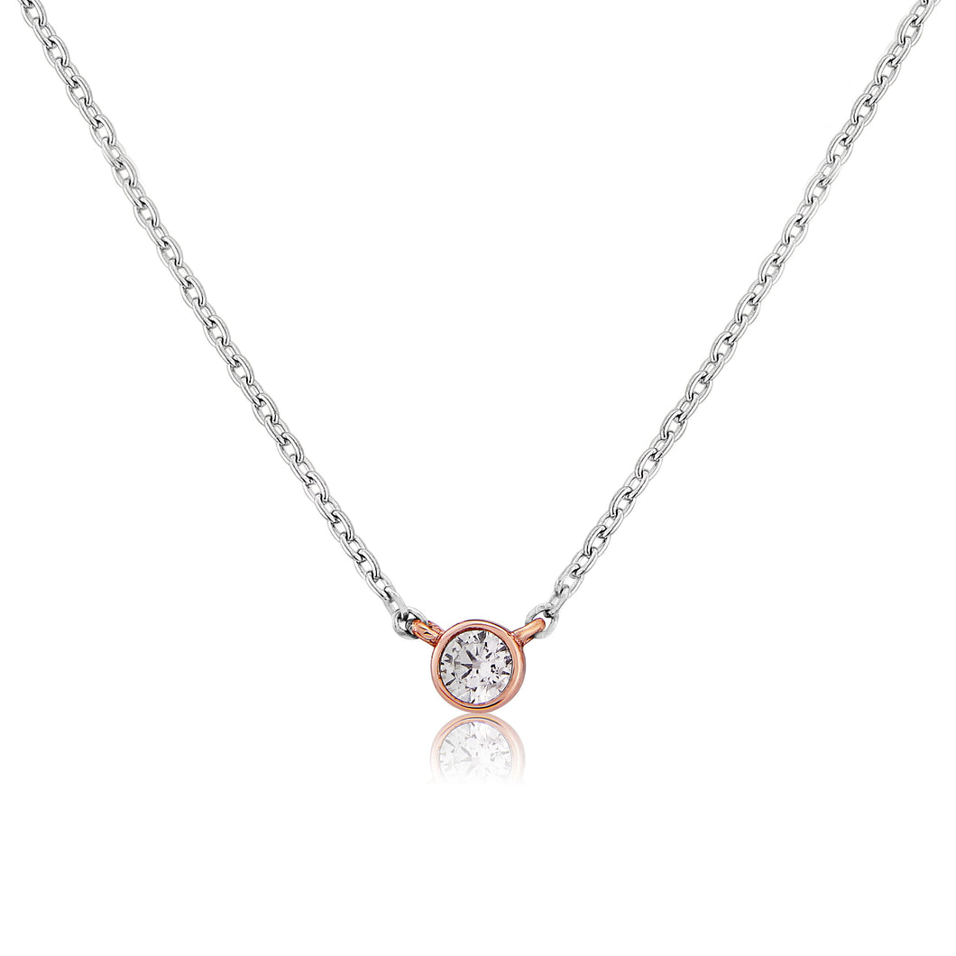 Waterford Jewellery rose gold and silver pendant