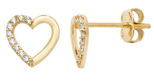 9ct. Gold Heart Earrings