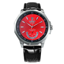 Load image into Gallery viewer, Military Sports Watch Men Automatic Mechanical Sub-dials Calendar Leather Strap Mens Watches Top Brand Luxury