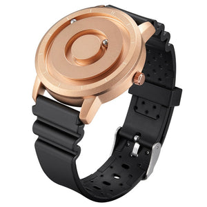 Creative Watch Rose Gold Black Sliver Magnetic Ball Metal Magnet Beads Watch Men's Circle Ring Rubber Sports Watch Male Watch