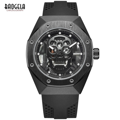 BAOGELA Military Sports Skull Watches Men Luxury