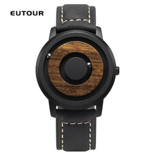 Load image into Gallery viewer, EUTOUR minimalist Novelty Wood Dial Scaleless Magnetic Watch Belt Natural Forest Fashion Men's Couple Watch