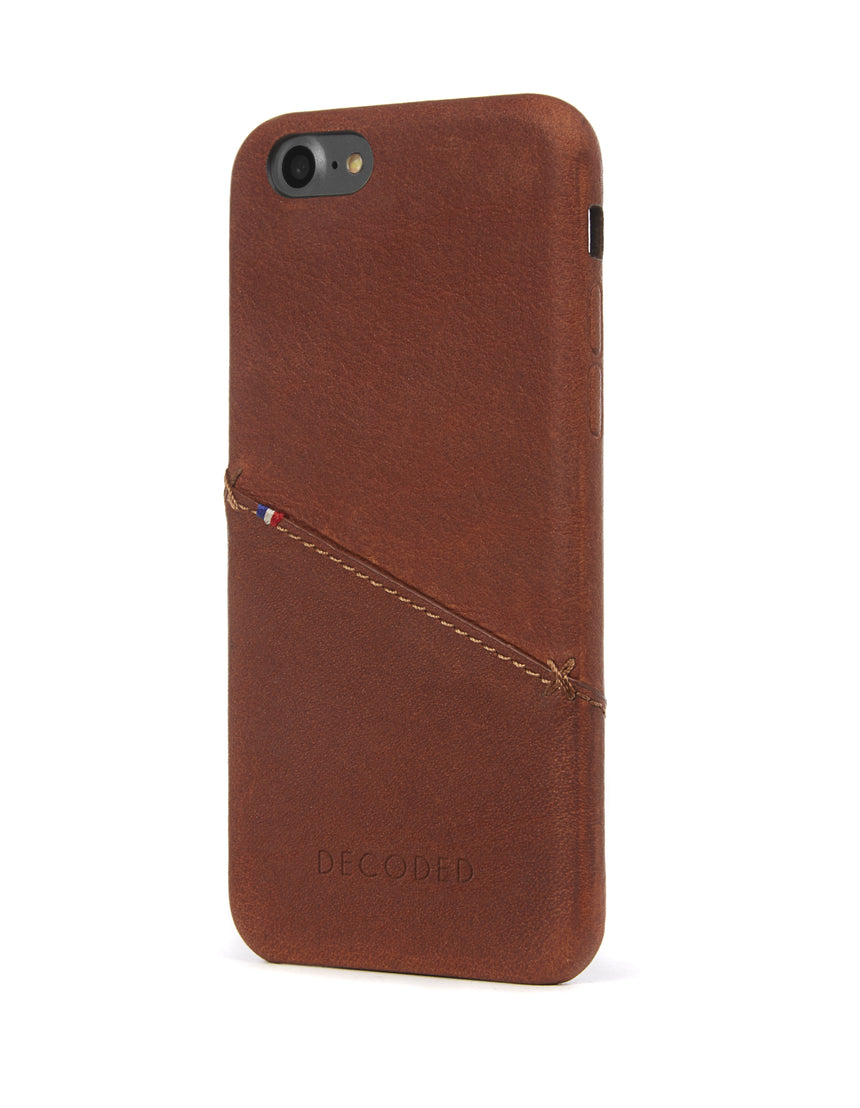 Back Cover Card Case Brown - iPhone SE-Back Cover-Decoded Bags