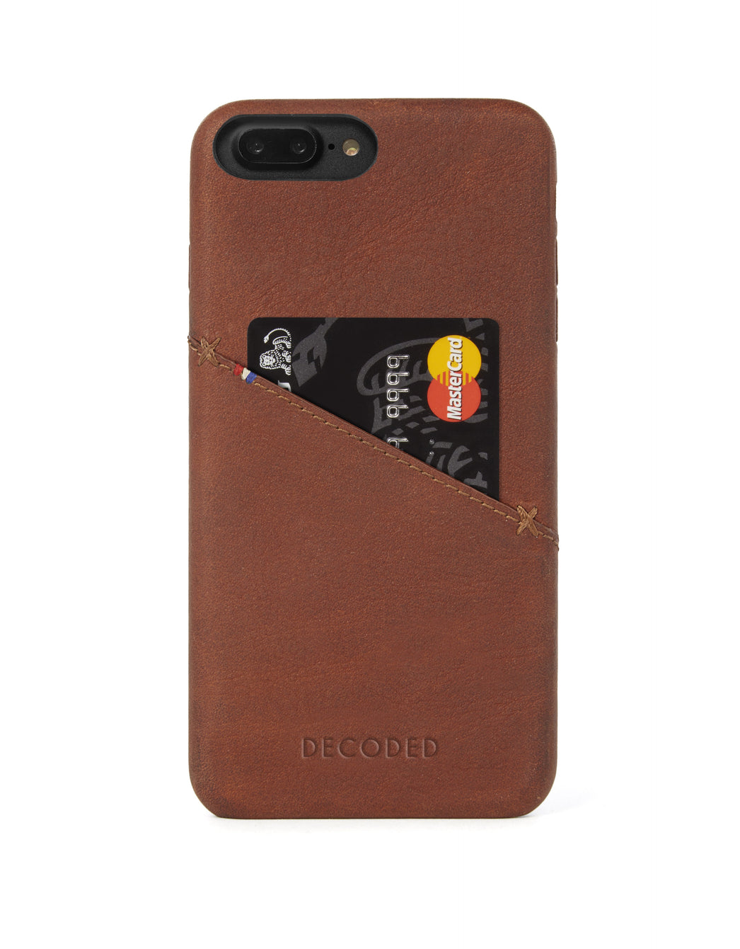 Back Cover Card Case Brown - iPhone 8 Plus