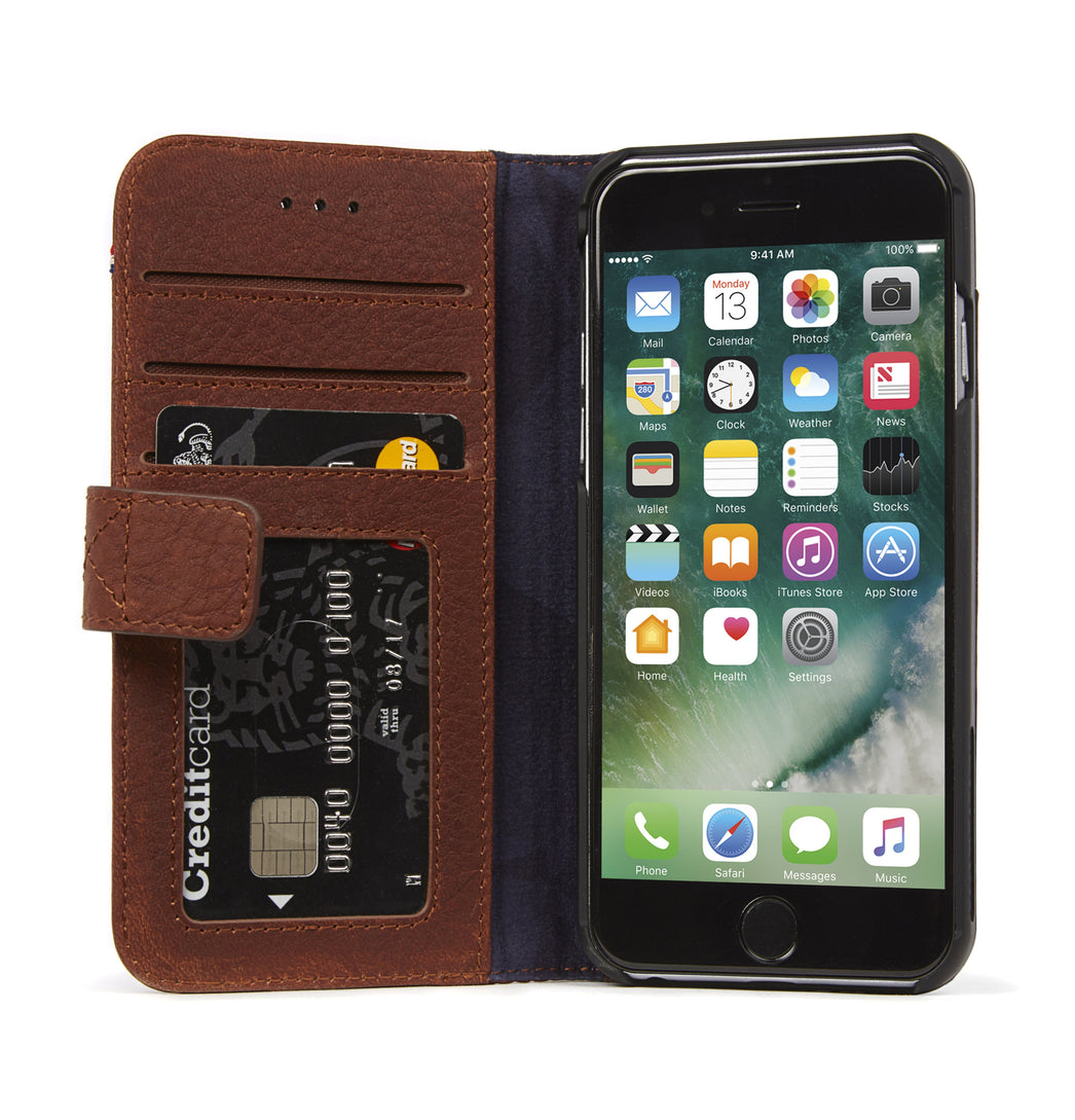 Wallet Case Brown - iPhone SE