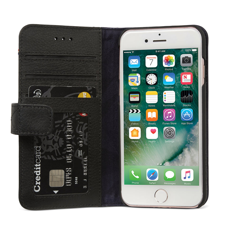 Detachable Wallet Black - iPhone 8-Detachable Wallet-Decoded Bags